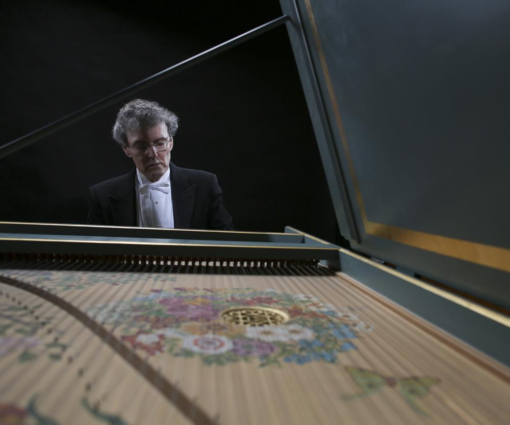 Martin Pearlman, conductor of Boston Baroque, plays the harpsichord. (Boston Baroque)
