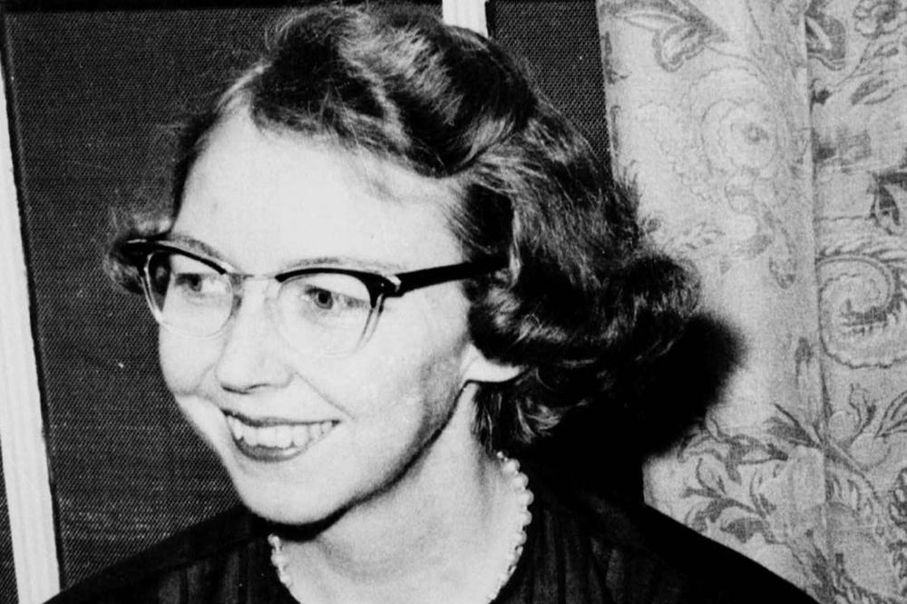 Author Flannery O'Connor in 1962. A recently discovered journal she wrote during her time at the University of Iowa in 1946 and 1947. (AP)