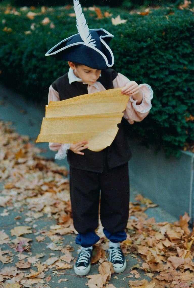 The author's son as President Thomas Jefferson, Halloween 1997. (Courtesy)