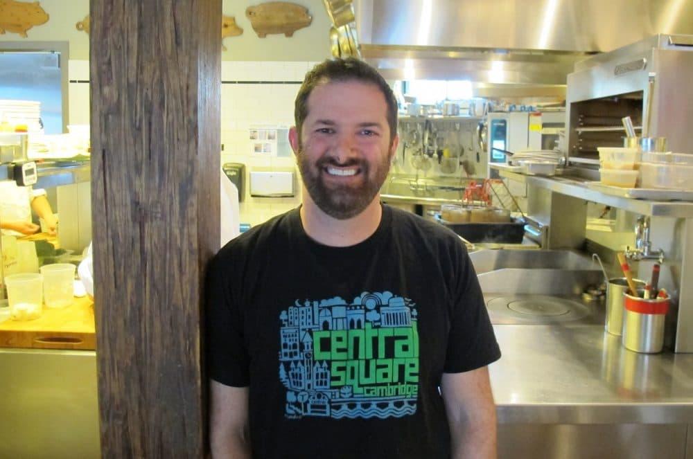 Chef Tony Maws in the kitchen of his Cambridge restaurant, Craigie On Main (WBUR)