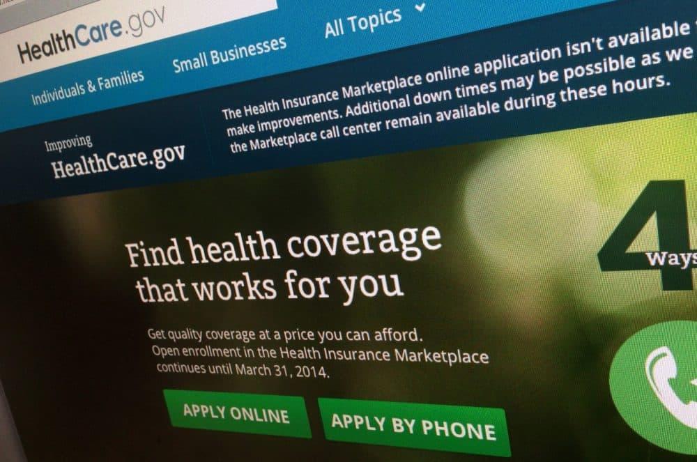 The HealthCare.gov website is photographed in Washington, Nov. 29, 2013. (Jon Elswick/AP)