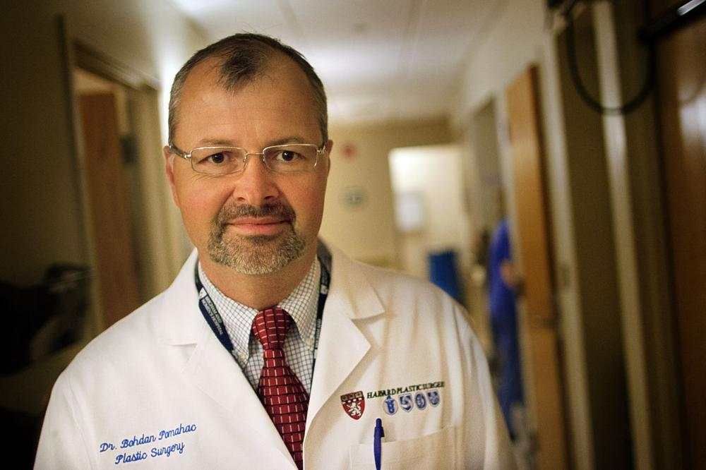 Dr. Bohdan Pomahac, of Boston's Brigham and Women's Hospital (Jesse Costa/WBUR)