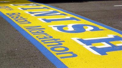 The finish line of the 2013 Boston Marathon, before the race began. (Facebook)