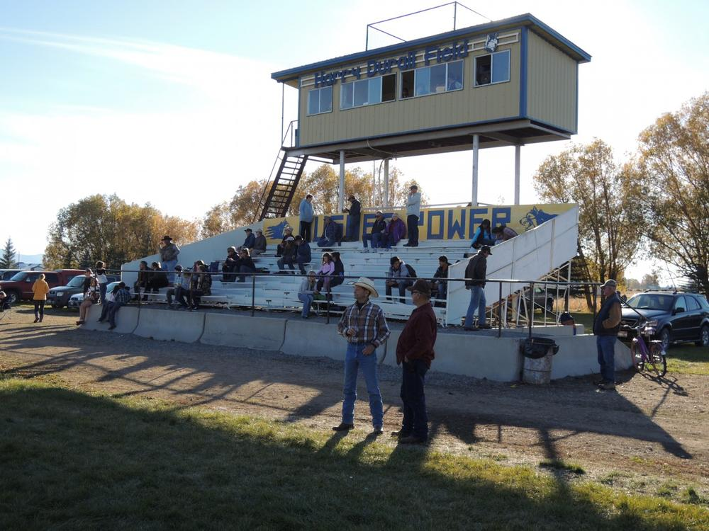 The hometown crowd for a Camas County six-man football game. (Scott Graf/Only A Game)