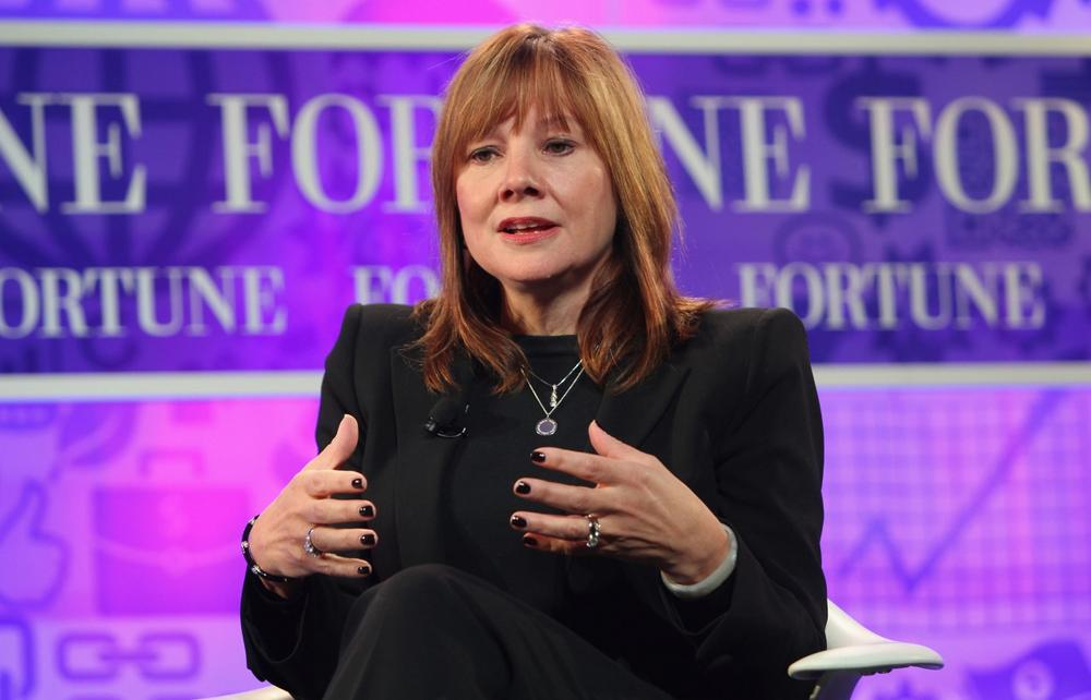 Mary Barra speaks onstage at the FORTUNE Most Powerful Women Summit on October 16, 2013, in Washington, DC. (Paul Morigi/Getty Images for FORTUNE)