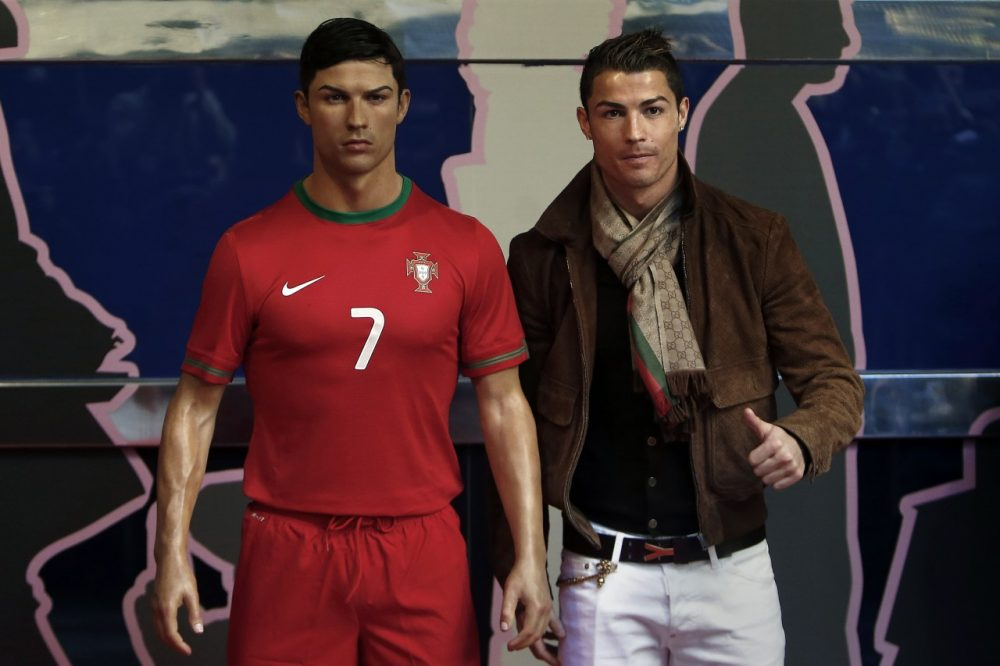 Ronaldo or wax Rondaldo? It's hard to tell determine which is the real deal. (Andres Kudacki/AP)
