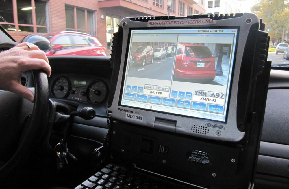 "The ""Automatic License Plate Reader"" used by the Portland police department can collect thousands of plates numbers in a day. (Kristian Foden-Vencil/OPB)"