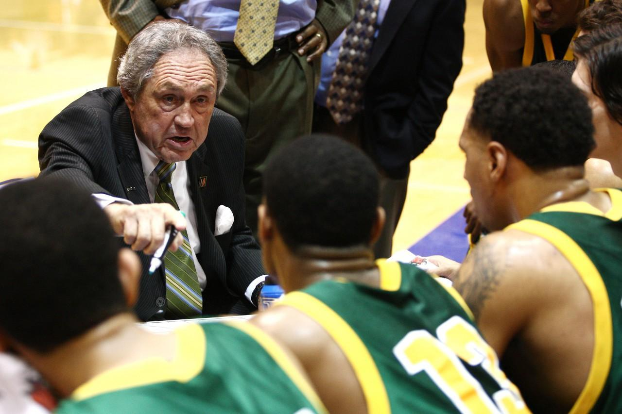 Eddie Sutton's coaching days are over, but basketball is still a large part of his life. (Jeff Lewis/AP)