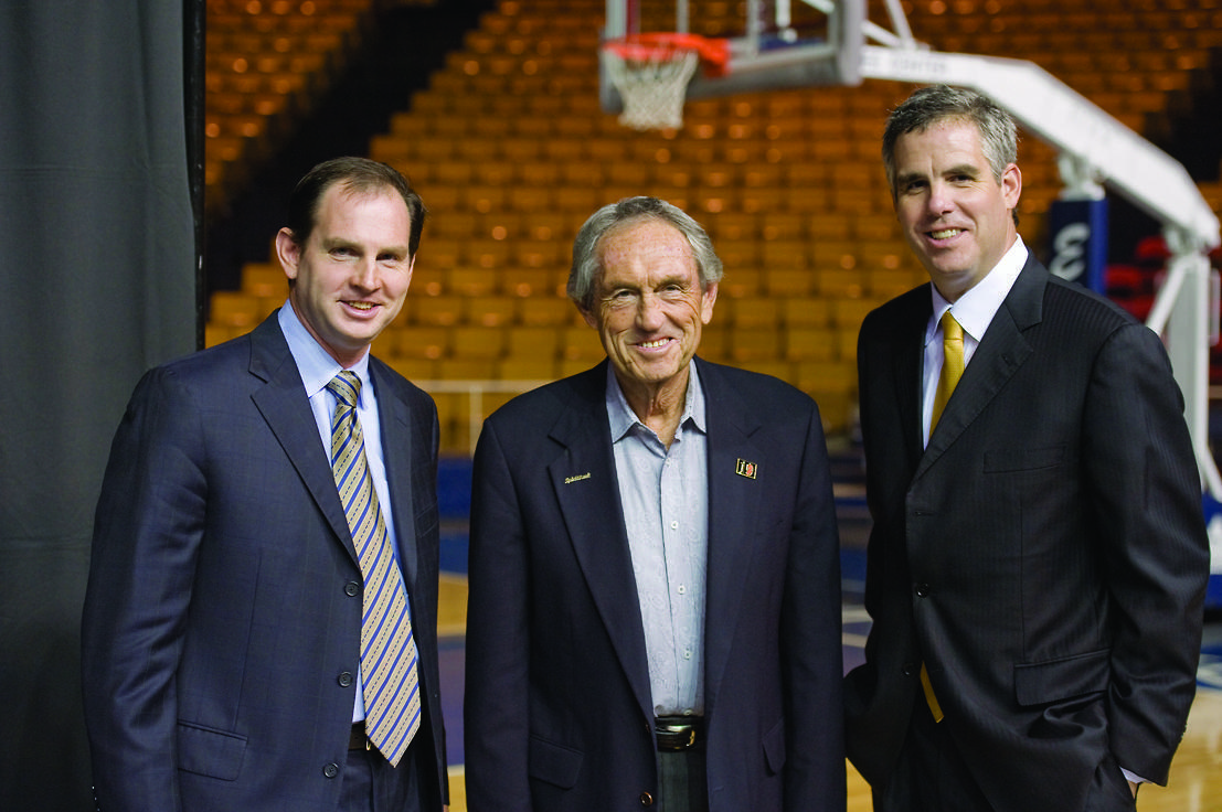 Sean (left), Eddie (middle), and Scott (right) have combined for more than 1,100 coaching victories. (Courtesy of ORU Media Relations)