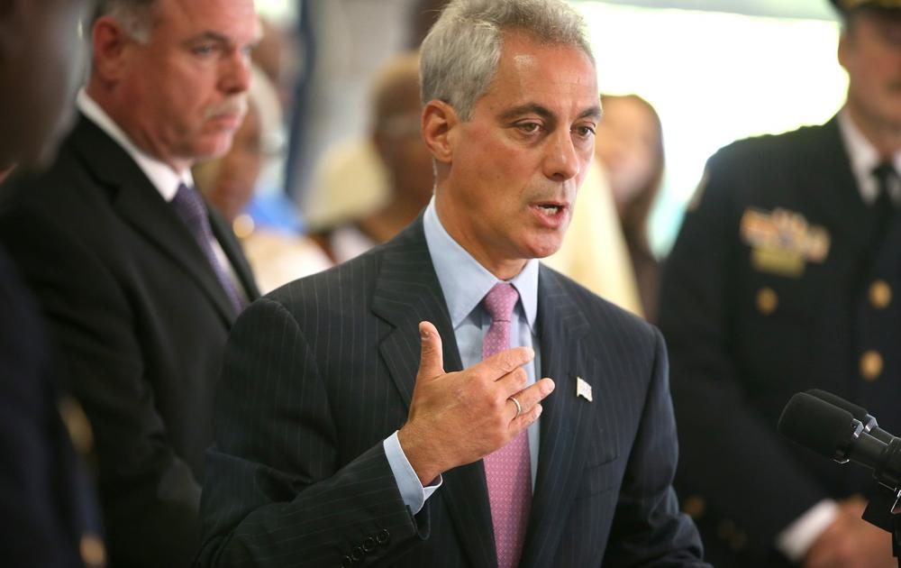 Chicago Mayor Rahm Emanuel speaks at a press conference concerning crime fighting in the city on September 10, 2013 in Chicago, Illinois. (Scott Olson/Getty Images)