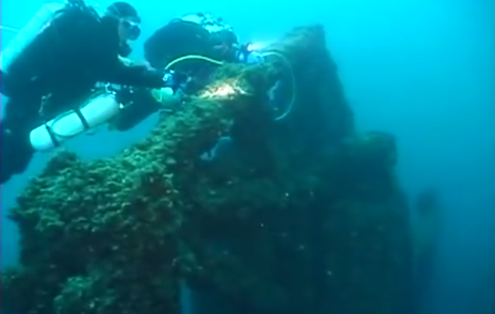David Trotter's Undersea Research Associates team discovered the wreck in July, about 50 miles from where it was reportedly last seen. (Screenshot from video)