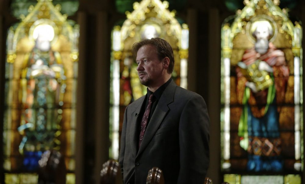 Frank Schaefer, pictured here on Dec. 19, 2013, is out with a new memoir about being defrocked and then reinstated by the Methodist church. (Matt Rourke/AP)