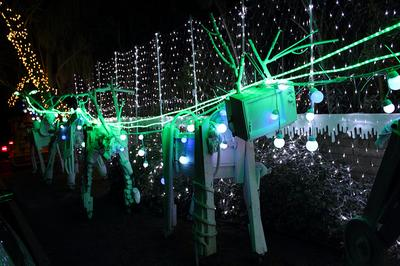Kenny Irwin's Christmas installation, RoboLights, in Palm Springs, Calif., gets about 20,000 visitors annually. (Clifford Horn/Flickr)