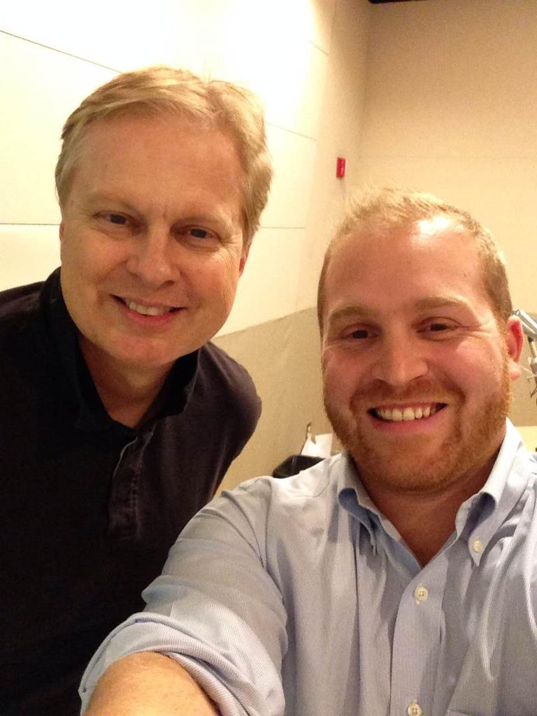 Jeremy Hobson & Tom Ashbrook take a selfie. (Jeremy Hobson)