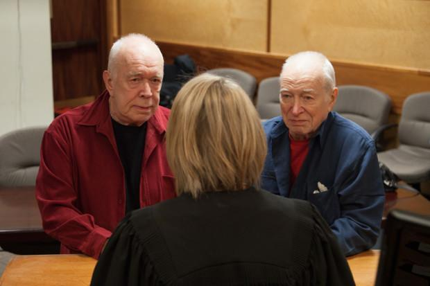 After 60 years together, Eugene Woodworth and Eric Marcoux were legally married. (Dan Sadowsky / OPB)