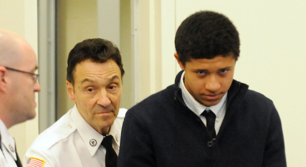 Simon Waxman: The requirement that minors accused of first-degree murder be tried as adults is an affront to reason and a challenge to the separation of juvenile and adult justice. In this photo, Phillip Chism, 14, from Danvers, Mass., is lead into the court room at his arraigned in Salem Superior Court, Wednesday, Dec. 4, 2013, in Salem, Mass. Chism is charged  in the Oct. 22 killing of a popular Danvers High School Math teacher Colleen Ritzer. (AP)