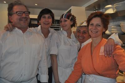 Jody Adams, far right, pictured with her team at last January's Super Hunger Brunch. (Courtesy)