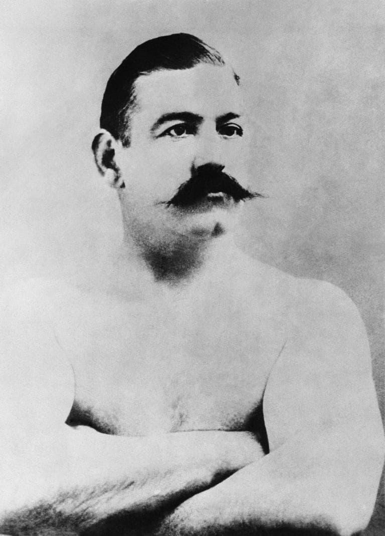 Boxer John L. Sullivan shown in an undated photo. (AP Photo)