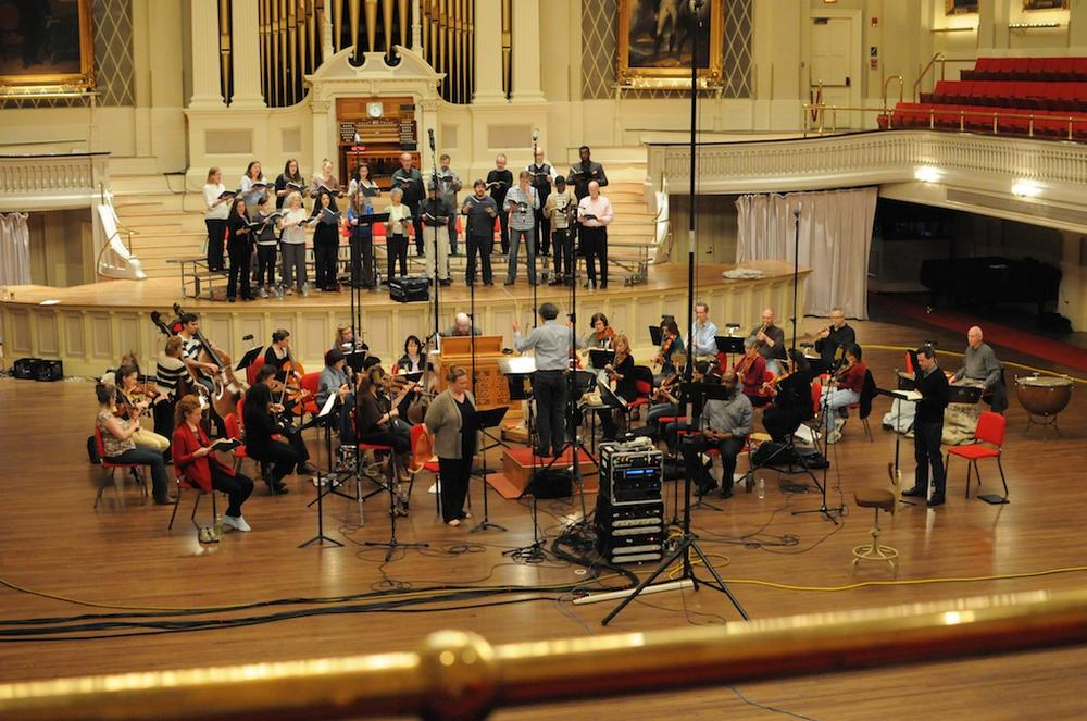 Boston Baroque records the Lord Nelson Mass at Mechanics Hall in Worcester. (Julian Bullitt)