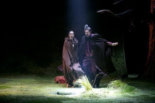 "Christina Bennett Lind and Christopher Sieber in ""The Heart of Robin Hood.""  (Evgenia Eliseeva)"
