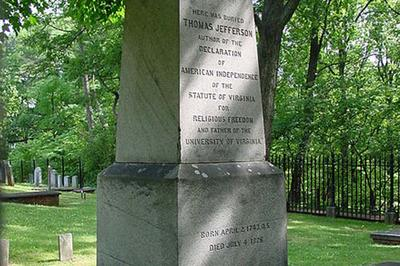 On President Thomas Jefferson's gravestone in Virginia, his promotion of the Statute of Virginia for Religious Freedom was one of the three things he was most proud of. (Creative Commons)