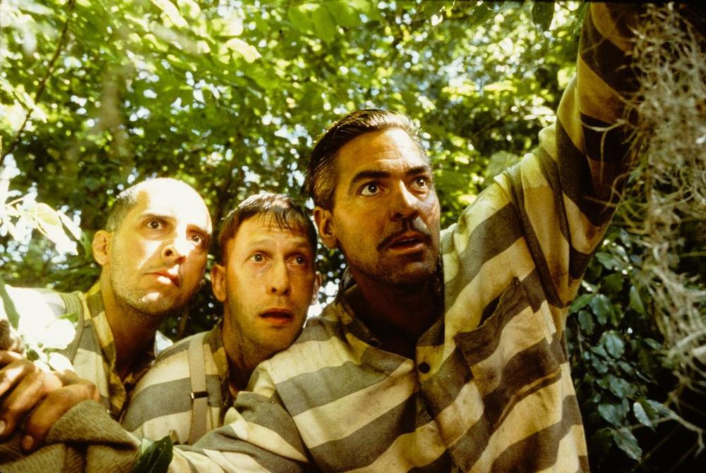 "John Turturro, Tim Blake Nelson and George Clooney in ""O Brother, Where Art Thou?"" (Courtesy, Brattle Theatre)"