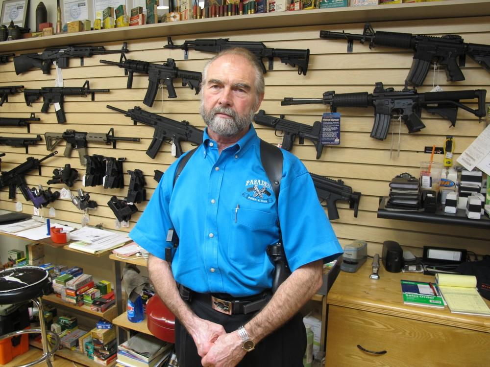 Frank Loane, owner of Pasadena Pawn and Gun in Maryland. (Brian Witte/AP)