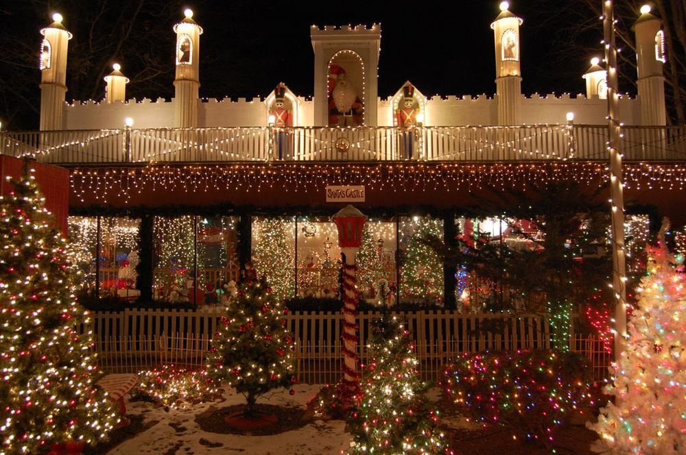"""Santa's Castle at the Stone Zoo's """"ZooLights."""" (Greg Cook)"""