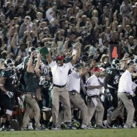 In the 100th edition of The Rose Bowl, No. 4 Michigan State beat No. 5 Stanford, 24-20. (Jae C. Hong/AP)