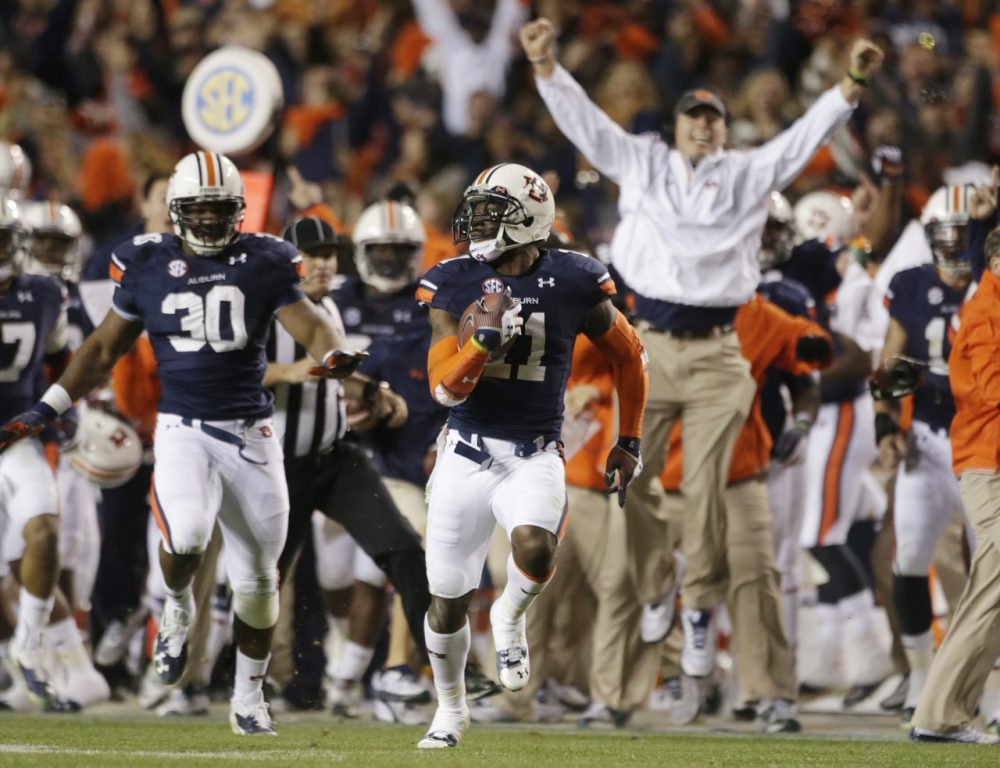 Can Auburn score another upset win when it takes on Florida State in the BCS National Championship? (Dave Martin/AP)