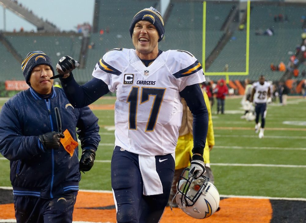 Quarterback Philip Rivers led the Chargers to a Wild Card win over the Bengals. But can he do it again against the Broncos? (Andy Lyons/Getty)