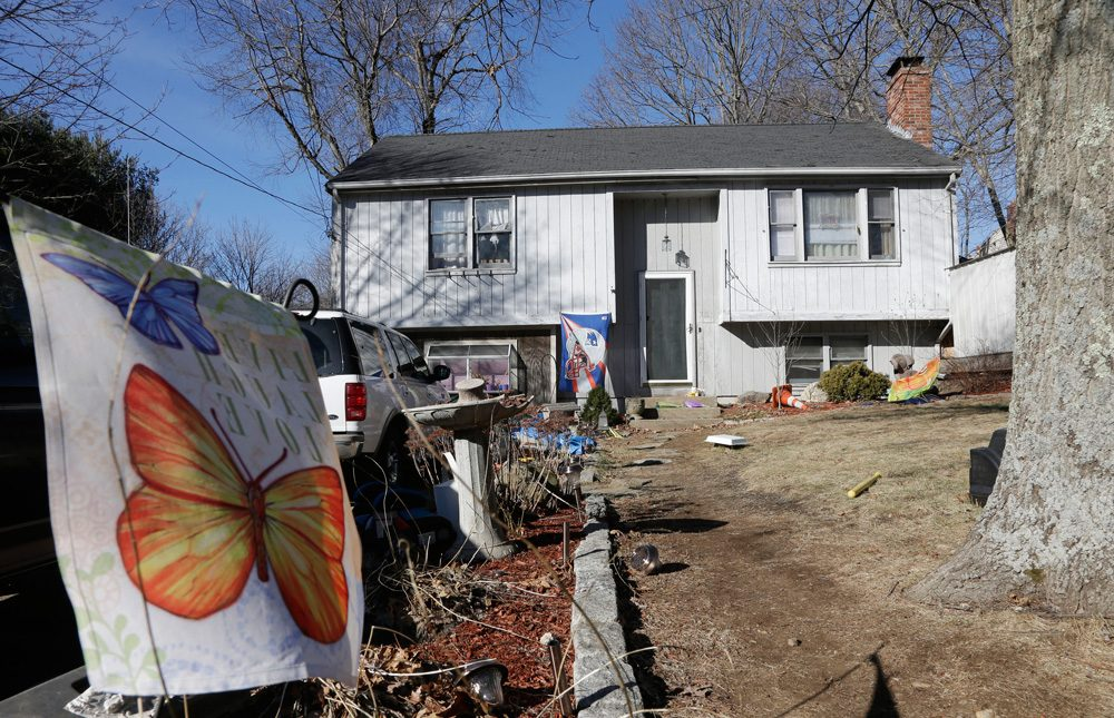 The Franklin home where authorities say a brother and sister under age 10 died after apparently getting trapped inside a hope chest (Steven Senne/AP)