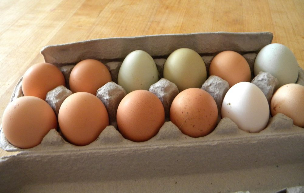 Here & Now resident chef Kathy Gunst loves putting farm fresh eggs on salads and sandwiches. (Kathy Gunst/Here & Now)