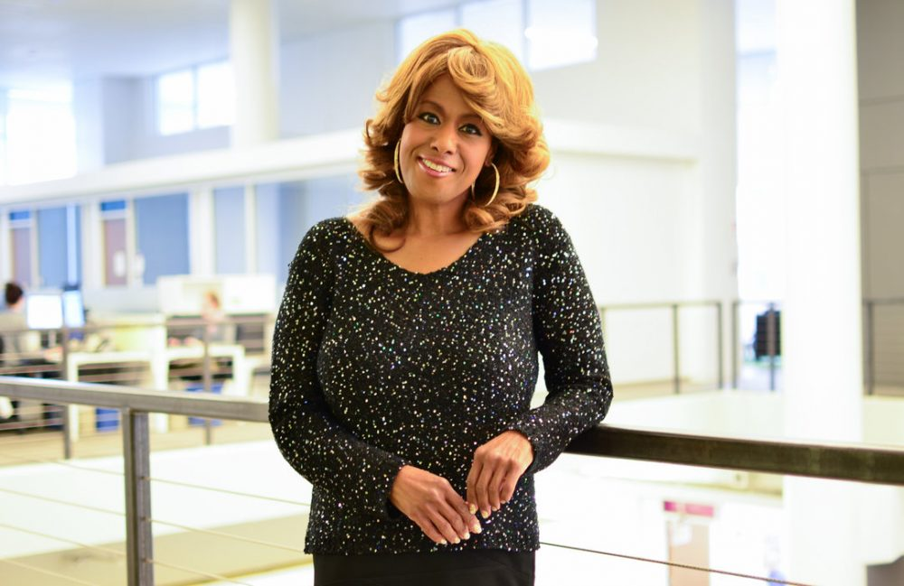 Jennifer Holliday is pictured at the NPR headquarters in Washington, D.C. (Amy Ta/NPR)