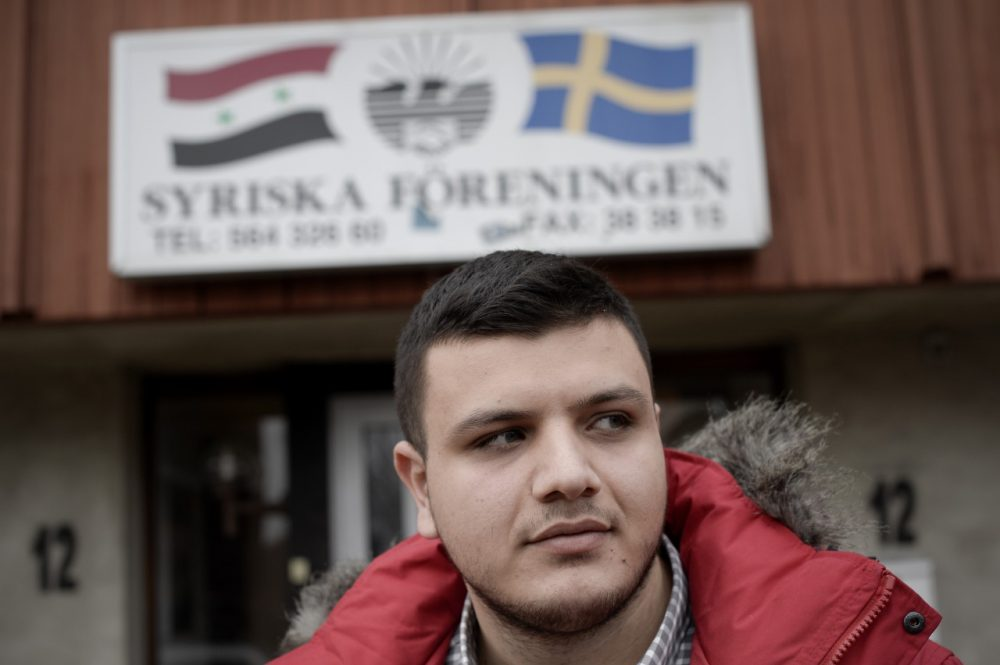 Hanna Shammo, 23, from Syria is pictured outside the Syrian Association on November 19, 2013 in Vaellingby, near Stockholm. (Jonathan Nackstrand/AFP/Getty Images)