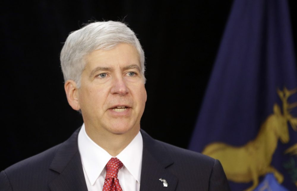 Michigan Gov. Rick Snyder is pictured July 19, 2013. (Carlos Osorio/AP)