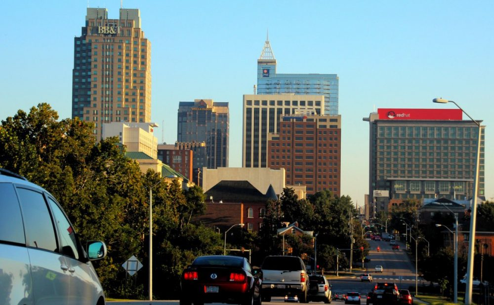 The Raleigh skyline is pictured in  October 2013. (afsilva2/Flickr)