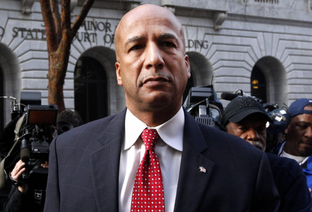 A jury has found former New Orleans mayor Ray Nagin guilty on 20 of 21 counts. He is pictured here on Jan. 27, 2014 arriving at the Hale Boggs Federal Building in New Orleans. (Jonathan Bachman/AP)