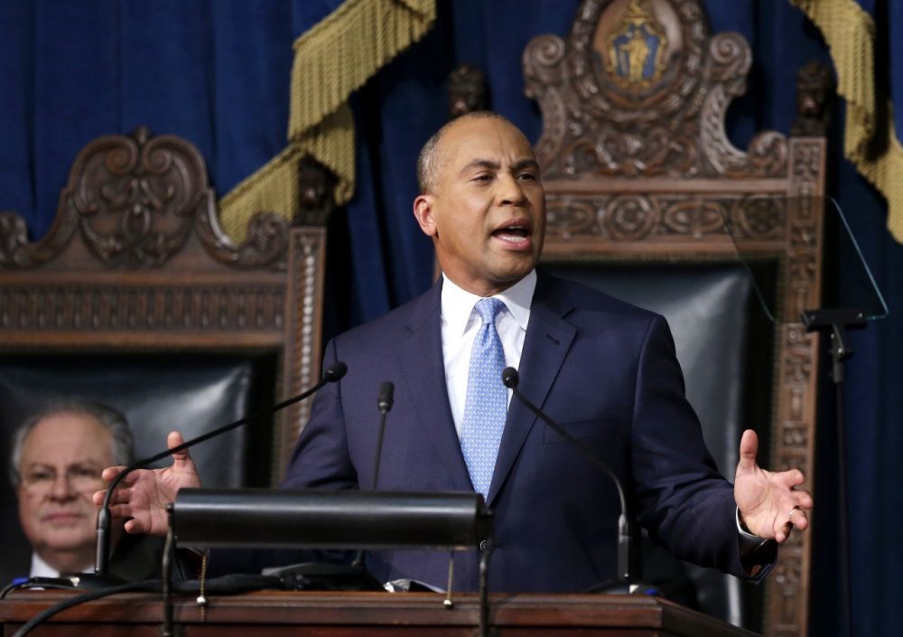 In Tuesday's State of the Commonwealth address, Gov. Deval Patrick made just one mention of the problems with the state's health care website. (Steven Senne/AP)