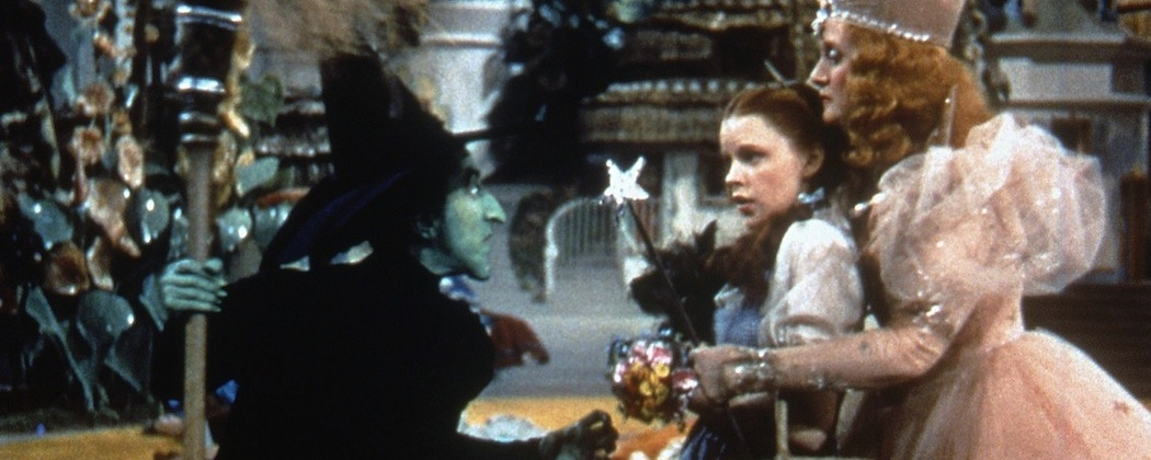 """Margaret Hamilton, Judy Garland and Billie Burke in """"The Wizard of Oz."""" (AP/HO)"""