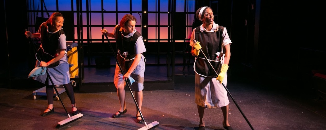 """Tiffany Chen, Shannon Lee Jones and Merle Perkins in """"Working, A Musical"""" at the Lyric Stage Company of Boston. (Mark S. Howard)"""