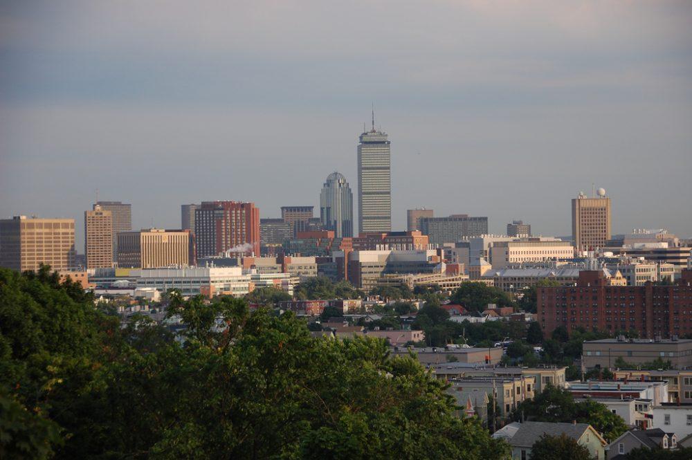View of the Boston skyline from Somerville's Prospect Hill Park. (ekilby/Flickr)