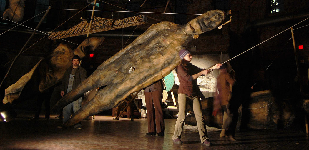 """Bread and Puppet Theater's """"Shatterer of Worlds."""" (Greg Cook)"""