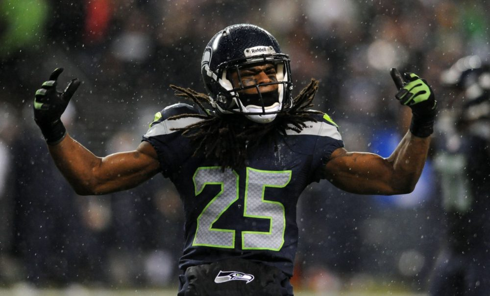 Will Richard Sherman be able to continue his tremendous play Sunday? (Steve Dykes/Getty Images)