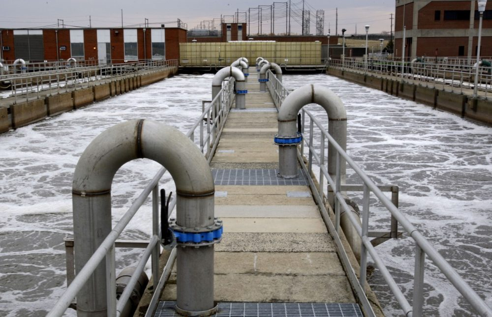 Aeration basins are seen in operation at the Wilmington Wastewater Treatment Plant in Wilmington, Del. in 2009 (Matt Rourke/AP)