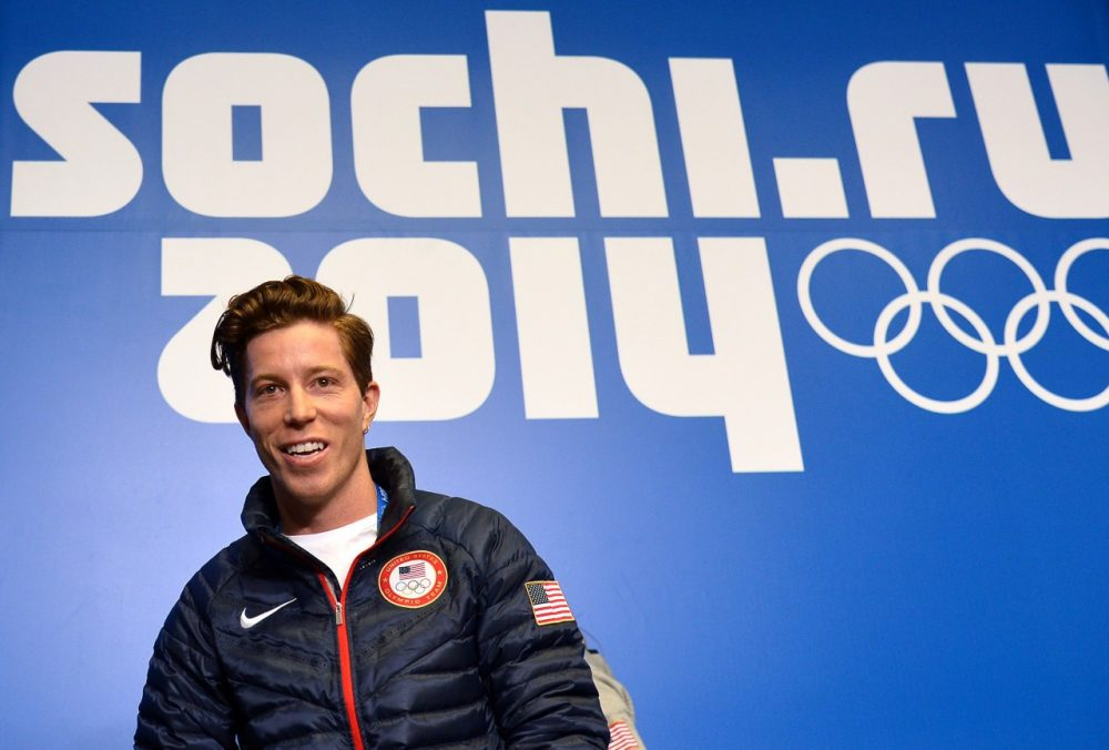 U.S. snowboarder Shaun White speaks during a press conference at Gorky Media Center the Rosa Khutor Alpine Centre on February 5, 2014. White admitted on February 3 that Sochi's daunting slopestyle course which has already claimed two injury victims presented an 'intimidating' challenge. (Alberto Pizzoli/AFP/Getty Images)