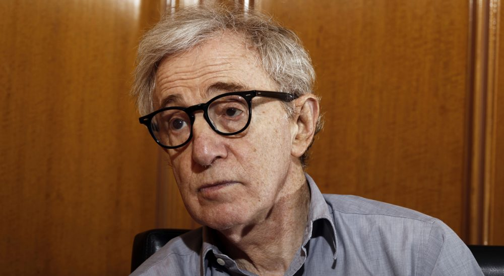 In this Dec. 29, 2011 file photo, Woody Allen is photographed during an interview in Beverly Hills, Calif. Dylan Farrow, the adopted daughter of Allen and Mia Farrow, penned an emotional open letter, accusing Hollywood of callously lionizing Allen, who she claims abused her. The letter revived in stunning detail an allegation more than two decades old. (Matt Sayles/AP)