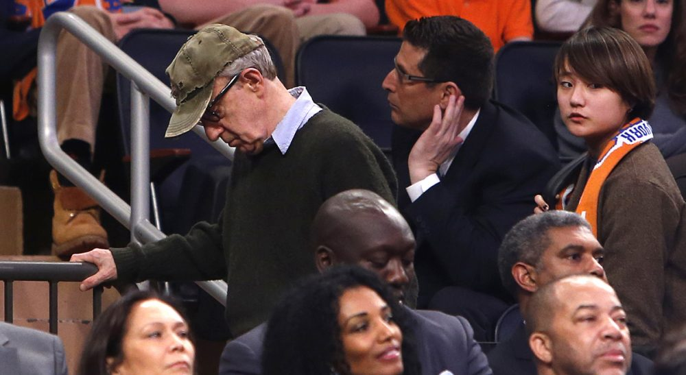 Alexandria Marzano-Lesnevich on why this is a difficult moment for survivors of sexual abuse. In this photo, filmmaker Woody Allen, left, leaves an NBA basketball game between the Miami Heat and the New York Knicks Saturday, Feb. 1, 2014, in New York. (Jason DeCrow/AP)