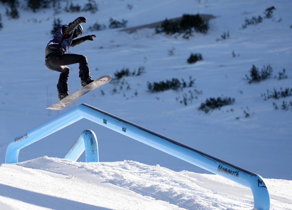 Slopestyle snowboarding is like a skate park filled with snow. (Harry How/Getty Images)