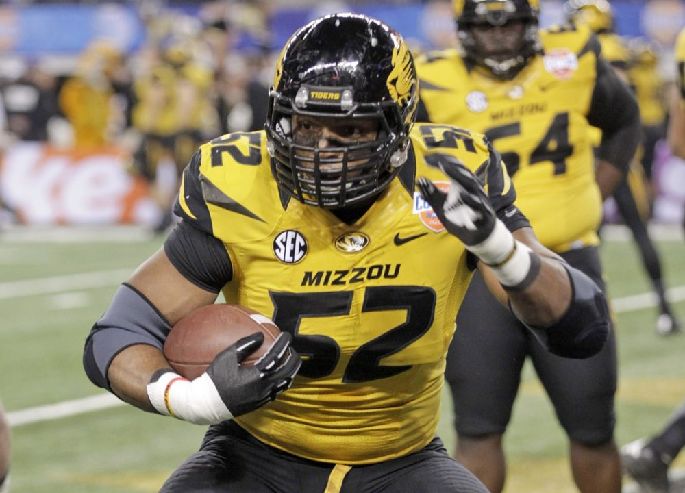 This week Missouri football player Michael Sam announced he is gay. Sam just finished his senior season and plans to become the first openly gay player in the NFL.  (Tim Sharp/AP)